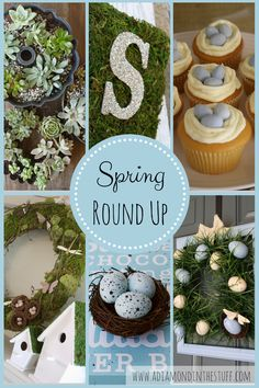 DIY Spring Round Up, tons of great SPRINGY inspiration! www.adiamondinthestuff.com