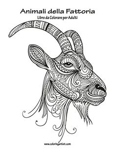 Goat Printable Coloring Pages Animali Fattoria Pinterest