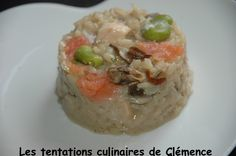 Risotto aux 2 saumons, 2 champignons, fèves et Boursin - Les tentations culinaires de Clémence
