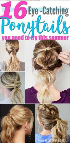 Amazing unique ponytails to get you ready for that summer look! #ponytail #hairstyle