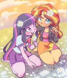 twilight sparkle,sunset shimmer