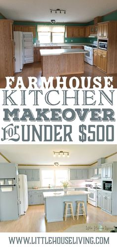 Looking to discover how you too can makeover your kitchen on a crazy low budget? Here's an amazing frugal kitchen makeover for inspiration! Farmhouse Style Kitchen, Old Kitchen, Kitchen Redo, Kitchen Styling, Kitchen Sinks, Kitchen Cabinets, Soapstone Kitchen, Modern Farmhouse, Kitchen Countertops