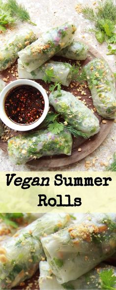 vegan summer rolls + a sweet and sour tamari dipping sauce. Packed with goodness, peanuts and perfect for summer!