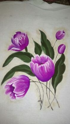 Tulipas - Pintura em Tecido