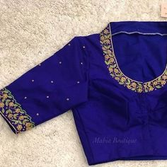 37 New Ideas Embroidery Blouse Saree Thread Silk Saree Blouse Designs, Fancy Blouse Designs, Bridal Blouse Designs, Stylish Blouse Design, Designer Blouse Patterns, Work Blouse, Ideas, Gold Wedding, Antique Gold