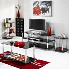 Mountrose Odyssey range is manufactured from tempered glass and chrome plated steel, perfect contemporary range for your living room http://www.home-outlet.co.uk/catalogsearch/result/?q=odyssey