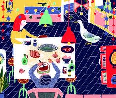Le nouvel observateur magazine - CACHETEJACK (Nuria Bellver and Raquel Fanjul, a Spanish illustration duo based in London.)