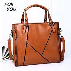 611c825374 New fashion bags patchwork nubuck leather women s handbag vintage shoulder  louis bags women pu leather messenger bag - TMACHE