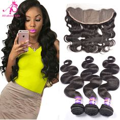 Pre Plucked Ear to Ear Lace Frontal Closure Bleached Knots with Hair Bundles Peruvian Body Wave Remy Human Hair Weave Natural Color Brazilian Curly Hair, Brazilian Body Wave, Remy Human Hair, Human Hair Extensions, Straight Weave Hairstyles, Bob Lace Front Wigs, Indian Human Hair, Body Wave Hair, Wigs For Black Women
