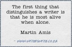 The thing that distinguishes a writer.