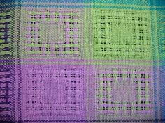 Trapunto commented to my last post about how useful a sampler can be – twills, how boring and cluttered a photo from a certain treadling can look in a book … turn out to … Weaving Patterns, Weaving Techniques, Different Patterns, Pink And Green, Weave, Hand Weaving, Sewing, Inspiration, Loom