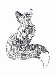 Zentangle fox fox coloring page, animal coloring pages, colouring, mandala art, animal Mandala Art, Mandalas Painting, Mandalas Drawing, Mandala Coloring Pages, Zentangles, Mandala Tattoo, Doodle Art, Doodle Drawing, Doodle Images