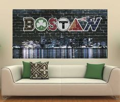 Patriots and All BOSTON-NATION  Awesome for a room or living room. Found in Amazon