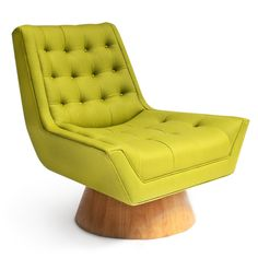 Jonathan Adler Whitaker Chair.  Love the unique base and bold chartreuse color.