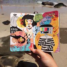 High tides sketchbooks, moleskine sketchbook, sketchbook ideas, sketchbook pages, art journal inspiration Journal D'art, Bullet Journal Art, Art Journal Pages, Art Journals, Sketch Journal, Journal Ideas, Journal Prompts, Arte Sketchbook, Sketchbook Pages