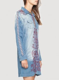 Alice True Western Denim Tunic by Johnny Was Would look amazing with leggings!