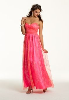 Prom Dresses 2013 - Glitter Strapless Long Dress from Camille La Vie and Group USA