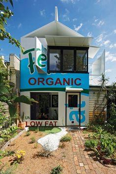 Milk Carton House by Simon and Freda Thornton Architects