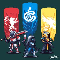 Who else is on the destiny 2 train? Destiny Comic, My Destiny, Destiny Tattoo, Destiny Poster, Destiny Video Game, Video Game Art, Cry Anime, Anime Art, Pixel Art