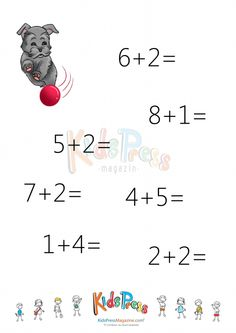 Sums to 10 Worksheet #5   #Addition #sums #to #10 #kinder #math
