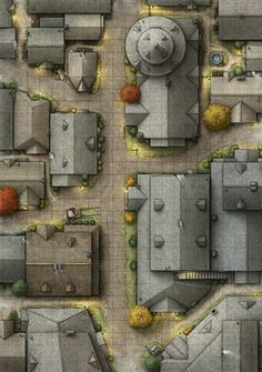 d&d city street map Fantasy Map Making, Fantasy City Map, Dungeons And Dragons Homebrew, D&d Dungeons And Dragons, Dnd World Map, Pathfinder Maps, Rpg Map, Building Map, Map Layout
