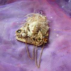 Wall Art Doll Hanging Doll Doll Art Assemblage by mystic2awesome