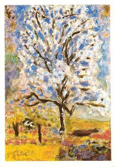 L'amandier en fleurs de Pierre Bonnard. Une merveille.