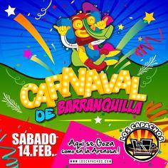 Ya viene el carnaval de Barranquilla en Los Capachos, sábado 14 de febrero.