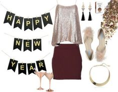 Sparkle in the new year! This sparkly camisole comes in multiple colors and can be paired with almost any neutral skirt or pants. All items are Amazon Prime - even the banner! This outfit is really practical with ridiculously cute flats to keep dancing until dawn... #blackpants #earrings #flats