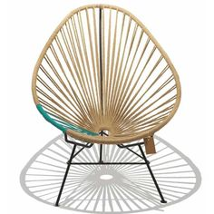 A twist on the classic Acapulco chair, this very stylish and natural-looking chair is covered in hemp for an understated look. Handmade in Mexico it is perfect