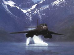 """B1B Lancer bomber Flying low over water. Some of the best memories I had as a Pilot was flying low """"on the deck"""" over water!!!: B1B Launch, Air Force, Airplanes, Bomber, Aircraft, Fighter Jet, Jets, Military"""