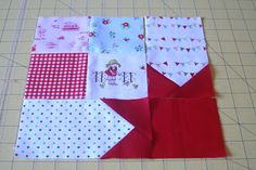 lovely little handmades: a tutorial~ simple patchwork and stars!