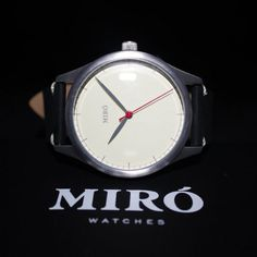 Miró Watches — Creme Face Black Strap