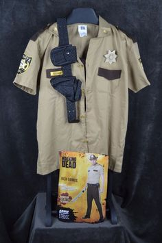 Sheriff Rick Grimes Walking Dead Mens Large L Halloween Costume Cosplay Zombie #SpiritHalloween #walkingdead