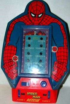 $39.95 - 1978 The Amazing Spiderman Rescue Game by Bandai (Vintage Electronic Hand-Held)