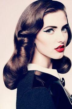 Retro Hair and Makeup-