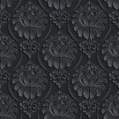 Illustration about Vector damask seamless pattern background. Elegant luxury texture for wallpapers, backgrounds and page fill. Images Wallpaper, Black Wallpaper, Galaxy Wallpaper, Mobile Wallpaper, Iphone Wallpaper, Wallpaper Ideas, Vintage Pattern Design, Motif Vintage, Cool Backgrounds