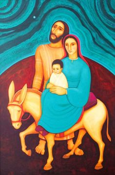 Return to Nazareth<br />Original painting: not available for purchase—sold<br />Prints: Not Available<br /> Jesus Our Savior, Mary And Jesus, Biblical Art, Holy Family, Clc, Christmas Paintings, Mother Mary, Sacred Art, Christian Art