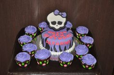 Monster high cake & cupcakes by Cake Creations by Christina