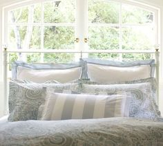 pb paisley bedding - blue