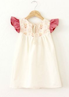 Ruffle Sleeve Cotton Dress   TajandMe on Etsy