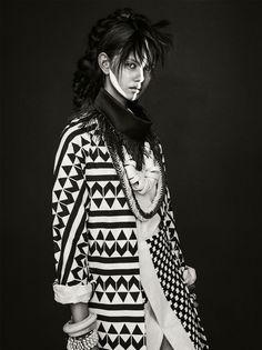 TOMORROW'S TRIBE Publication: Vogue Australia April 2014 Model: Marina Nery Photographer: Sebastian Kim Fashion Editor: Katie Mossman Hair: Bok-Hee Make-up: Mariel Barrera