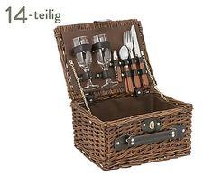Picknickkorb Sussex für 2 Personen, 14-tlg., B 30 cm