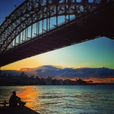Watching the sunrise under the Sydney Harbour Bridge after an early morning run. This is probably one of the most iconic locations to see an Australian sunrise. I hope everyone had a fantastic Australia Day! Help support me with my journey to run the Boston Marathon and donate to a great charity link in my bio.  #teamshriver #campshriver #sunrise #run  #boston #bostonmarathon #boston2016 #running #runningboston #roadtoboston #explore #sydney #sydneyharbour #sydneyharbourbridge #visitnsw…