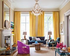 Cecil Touchon: Architectural Digest November 2014: A Manhattan Townhouse Puts a Bright Twist on Traditional Decor