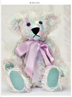 Make 'Trista', this beautiful multi coloured bear, with our pattern in the latest issue of Teddy Bear Times #232. http://www.teddybeartimes.com/ #TeddyBear #magazine