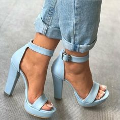 "Nothing makes your look stand out more than the perfect blue heels! High Heels Your ""True Blue"" Heels For Any Occasion Stilettos, Pumps Heels, Stiletto Heels, Prom Heels, Women's Shoes, Me Too Shoes, Shoe Boots, Dress Shoes, Flat Shoes"