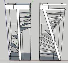 Space Saving Staircase, Small Staircase, Loft Staircase, Staircase Railings, House Stairs, Spiral Stairs Design, Home Stairs Design, Stair Design, House Main Gates Design