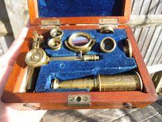ANTIQUE J P CUTTS SHEFFIELD BRASS MICROSCOPE | Antiques, Science/Medicine, Scientific Instruments | eBay!