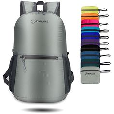 ZOMAKE Ultra Lightweight Packable Backpack Water Resistant Hiking Daypack,Small Backpack Handy Foldable Camping Outdoor Backpack Little Bag (Silvery Gray). For product info go to:  https://all4hiking.com/products/zomake-ultra-lightweight-packable-backpack-water-resistant-hiking-daypacksmall-backpack-handy-foldable-camping-outdoor-backpack-little-bag-silvery-gray/